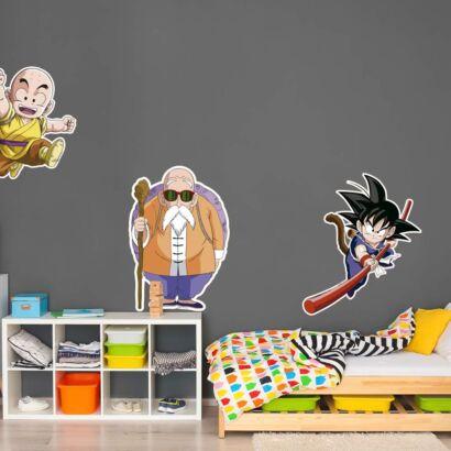 Pegatina pared Dragon Ball Classic Mutenroi Goky y Krilin