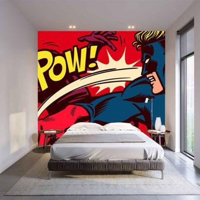 Papel Pintado Pelea Superheroes