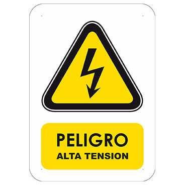 Señaletica Peligro Alta Tension