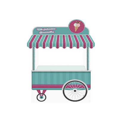 photocall carrito helados verde