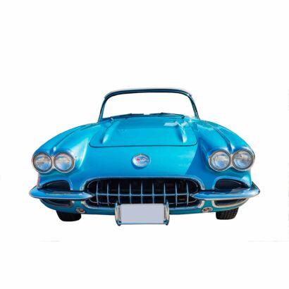 Photocall Coche Corvette Azul