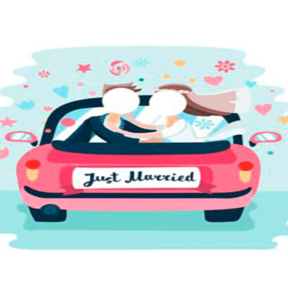 photocall-just-married-coche-1
