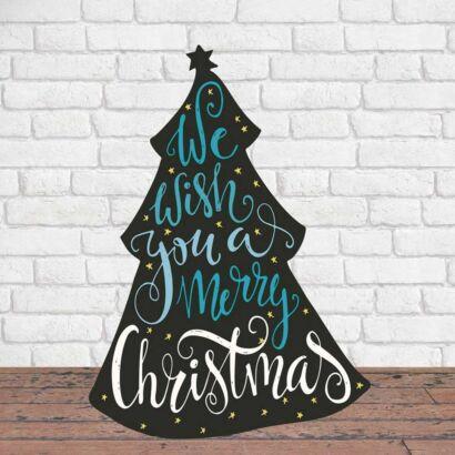 Photocall Navidad Árbol de los Deseos Azul