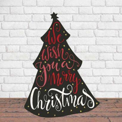 Photocall Navidad Árbol de los Deseos Rojo