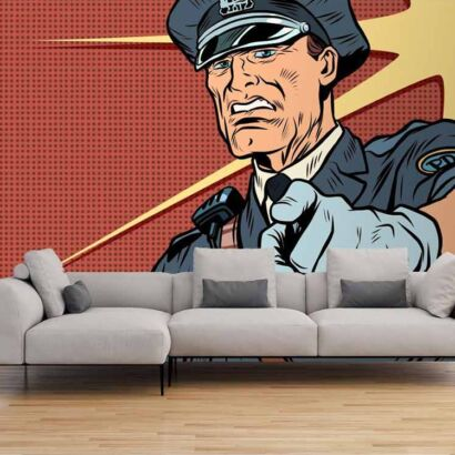 Papel Pintado Policía Cómic