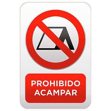 Señaletica Prohibido Acampar