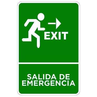 Señaletica Salida de Emergencia Derecha