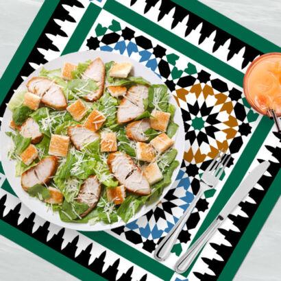 Bajoplato azulejos estilo árabe