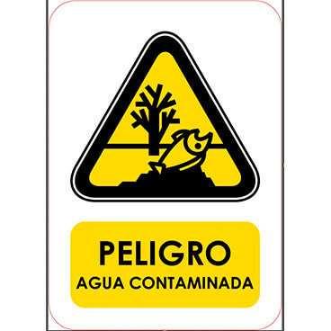 Señaletica Peligro Agua Contaminada
