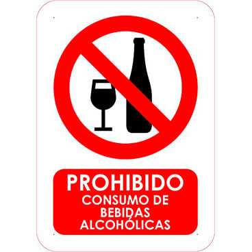 Señal Prohibido Consumo Bebidas Alcoholicas