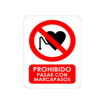Señalética Prohibido Pasar con Marcapasos
