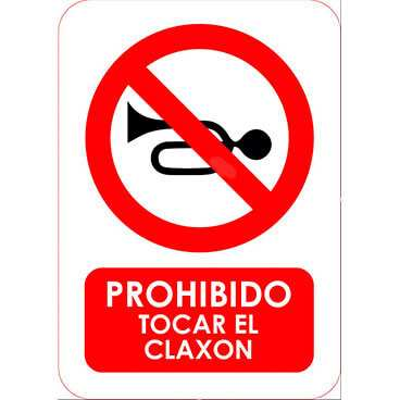 Señal Prohibido Tocar el Claxon