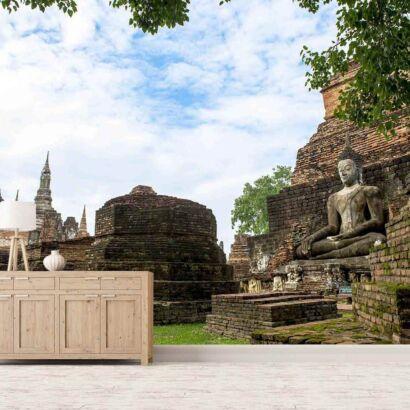 Papel Pintado Templo Maya Wat Mahathat