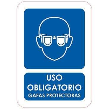 uso obligatorio gafas protectoras