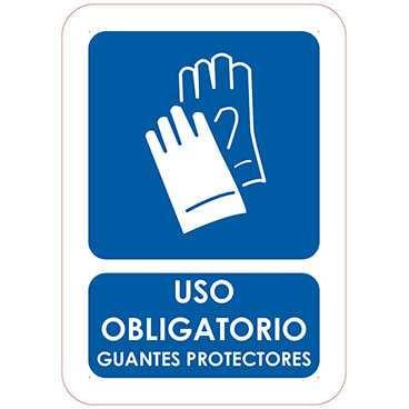 señal uso obligatorio guantes protectores