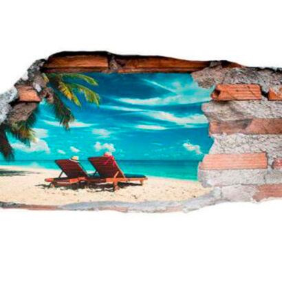 vinilo-3d-playa-paradisiaca