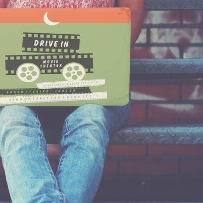 Vinilo Adhesivo PC Portátil Drive In Movie