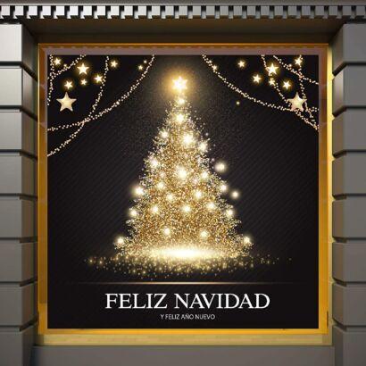Vinilo árbol Navidad Luces