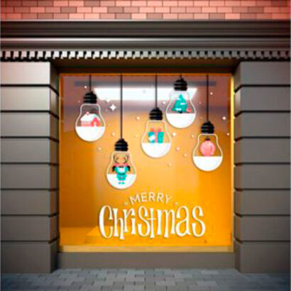vinilo-bombillas-navidad-merry-christmas