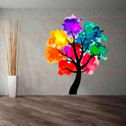 vinilo-decorativo-arbol-colores