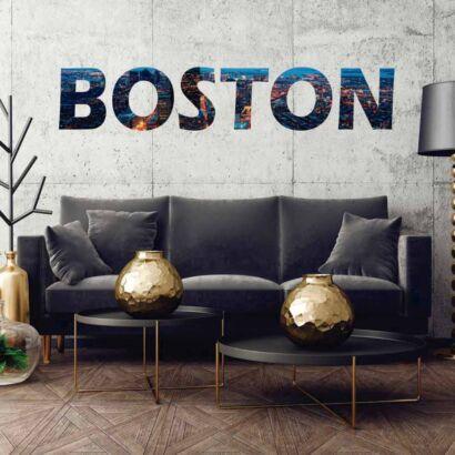 Vinilo Decorativo Ciudades Boston