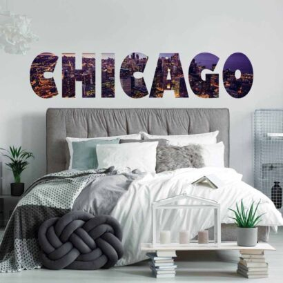 Vinilo Decorativo Ciudades Chicago