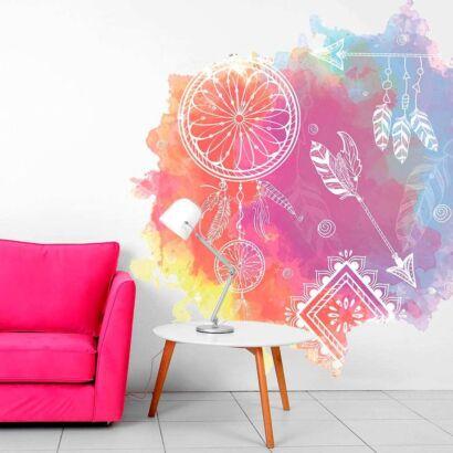 Vinilo Decorativo Espiritual Atrapasueños Colores
