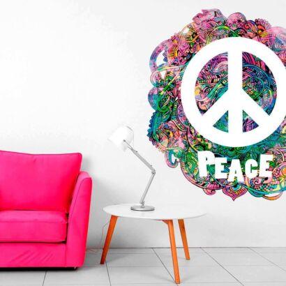 Vinilo Decorativo Hippie Símbolo Peace