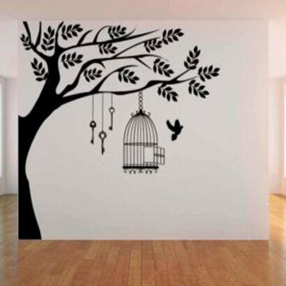 vinilo-decorativo-jaula-arbol