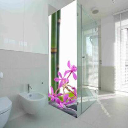 vinilo-decorativo-mampara-flores-bambu