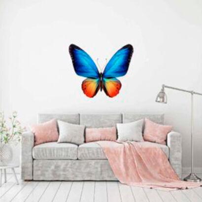 vinilo-decorativo-mariposa-azul-y-naranja