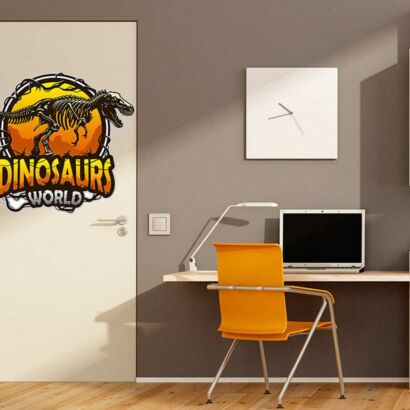 Vinilo Decorativo Puerta Dinosaurs World