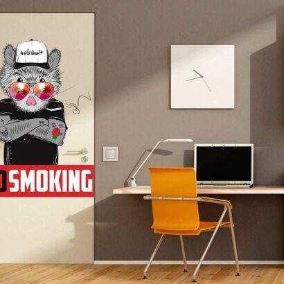 Vinilo Decorativo Puerta No Smoking