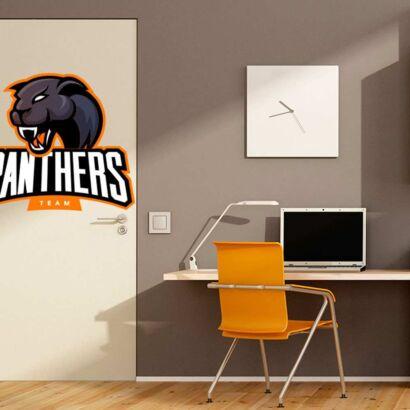 Vinilo Decorativo Puerta Panthers Team