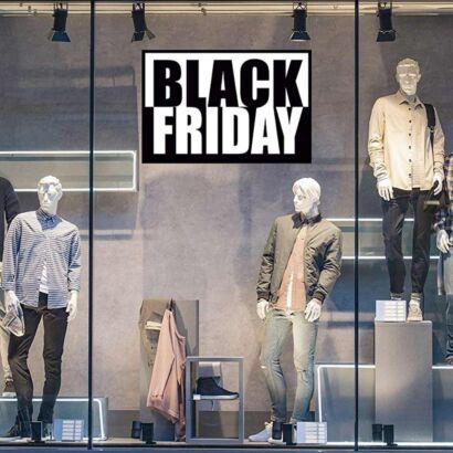 Vinilo Escaparate Black Friday Blanco Negro