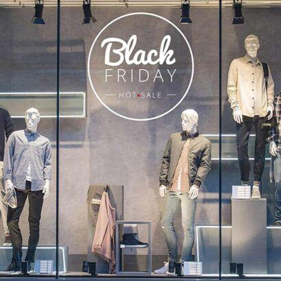 Vinilo Escaparate Black Friday Hot Sale Blanco