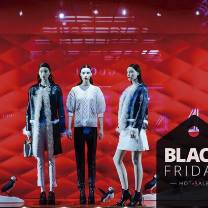 Vinilo Escaparate Black Friday Hot Sale Negro