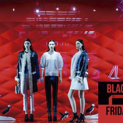 Vinilo Escaparate Black Friday Negro Rojo