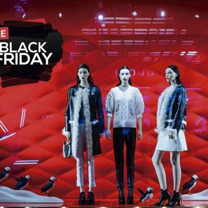 Vinilo Escaparate Black Friday Sale Negro