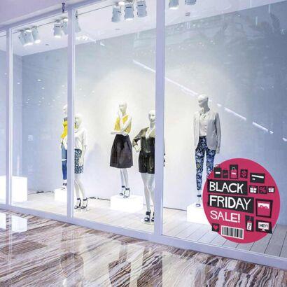 Vinilo Escaparate Black Friday Sales Rosa