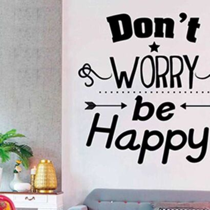 Vinilo Frases Dont Worry Be Happy