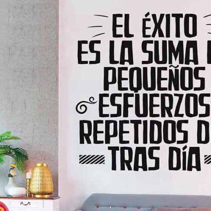 Vinilo Frases El Éxito es la Suma