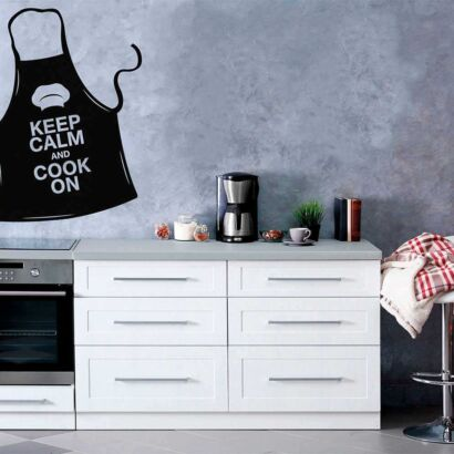 Vinilo Frases Keep Calm And Cook On
