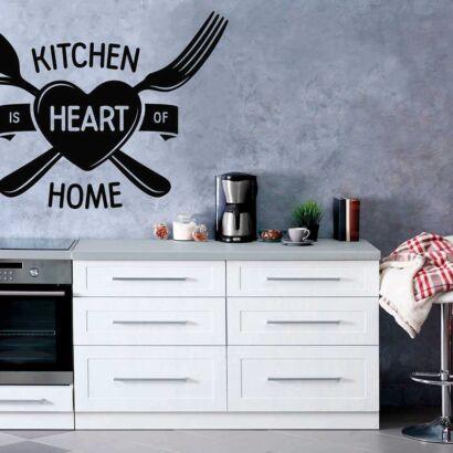 Vinilo Frases Kitchen Hearth Home