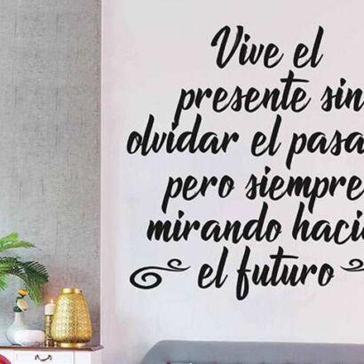 Vinilo Frases Vive el Presente