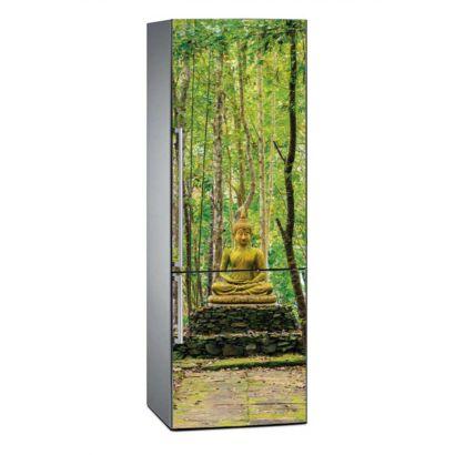 Vinilo Frigorífico Buda Bosque Bambú