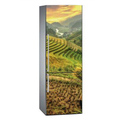 Vinilo Frigorífico Campos de Arroz Vietnam