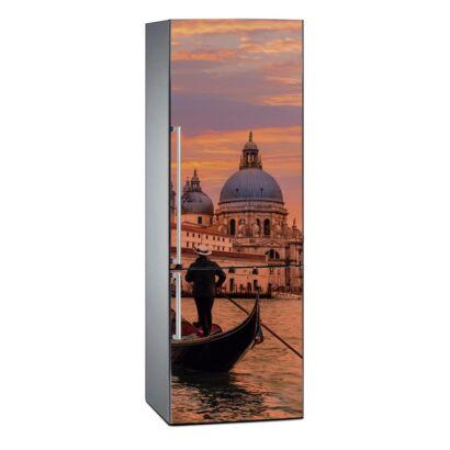 Vinilo Frigorífico Canal de Venecia al Atardecer