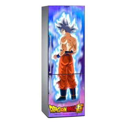 Vinilo Frigorífico Dragon Ball Goku Ultra Instinto