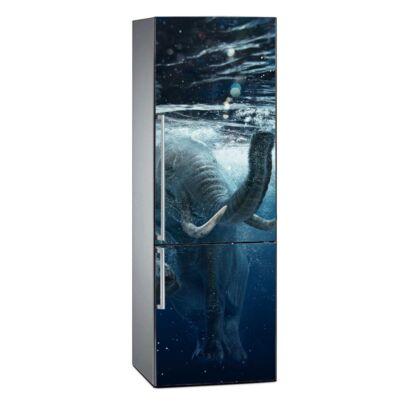 Vinilo Frigorífico Elefante Bajo el Agua